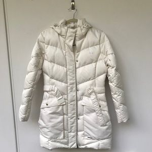 ADIDAS down jacket in off-white